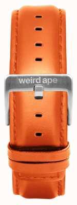 Weird Ape Oranje lederen 20mm riem zilveren gesp ST01-000111