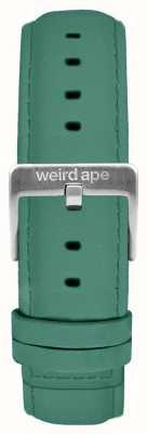 Weird Ape Jade groene suede 16mm riem zilveren gesp ST01-000060