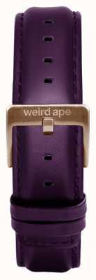 Weird Ape Purpleleather 16mm band rosé gouden gesp ST01-000036