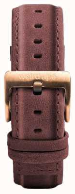 Weird Ape Pastelroze lederen 16mm band rosé gouden gesp ST01-000033