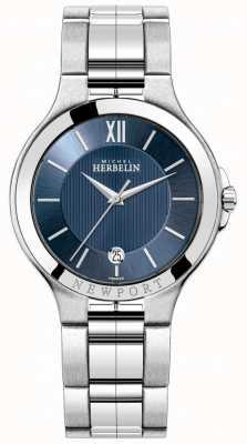 Michel Herbelin Heren newport horloge met een blauwe wijzerplaat 12298/B15