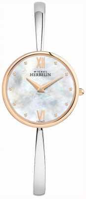 Michel Herbelin Dames roségouden horloge zilveren armband 17418/BTR19