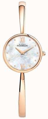 Michel Herbelin Dames roségouden horloge rose gouden armband 17408/BPR19