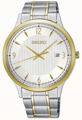 Seiko Klassieke wijzerplaat twee toonhorloge van het mensen het klassieke patroon SGEH82P1