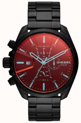 Diesel Mens MS9 horloge iriserende glazen chronograaf wijzerplaat DZ4489
