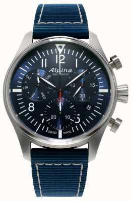 Alpina Starter piloot chronograaf quartzblauw heren AL-371NN4S6