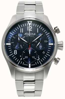 Alpina Starter pilot pilot chronograph quartz stainless steel heren AL-371NN4S6B