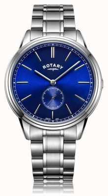 Rotary Herenhorloge verzwaard roestvrijstalen armbandhorloge GB05360/05