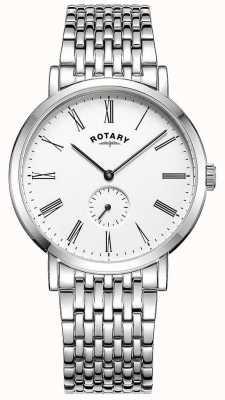 Rotary Herenhorloge verzwaard roestvrijstalen armbandhorloge GB05310/01