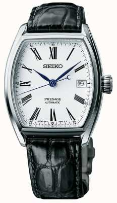 Seiko Mens presage automatische zwarte band email wijzerplaat horloge SPB049J1