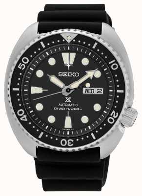 Seiko Mens prospex automatische schildpad duiker horloge zwart SRP777K1