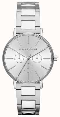 Armani Exchange Dames lola roestvrij staal zilveren chronograaf horloge AX5551