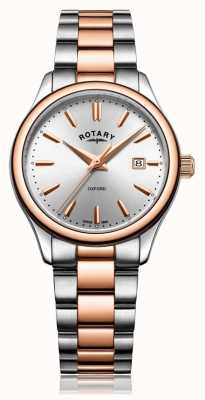 Rotary Dames oxford two tone armband rose goud LB05094/06