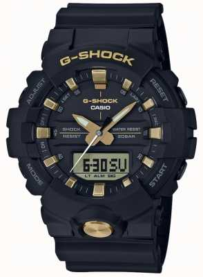 Casio G-shock analoog digitaal multifunctioneel mat zwart goud GA-810B-1A9ER