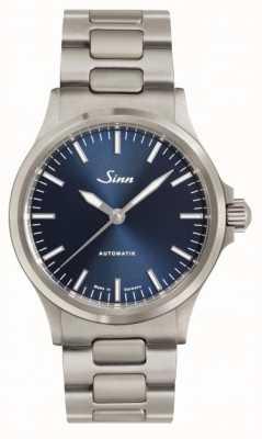Sinn 556 ib blauwe wijzerplaat metalen armband 556.0104 LINK BRACELET
