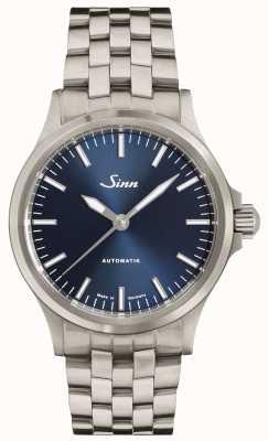 Sinn 556 ib blauwe wijzerplaat fijne schakelarmband 556.0104 FINE BRACELET
