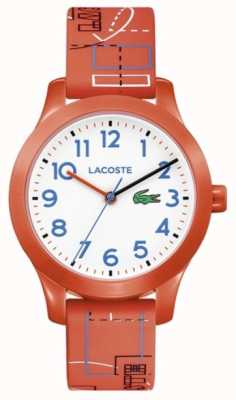 Lacoste 12.12 witte wijzerplaat kinder oranje band 2030010