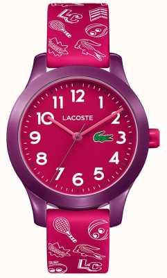 Lacoste 12.12 pink pink wijzerplaat voor kinderen 2030012
