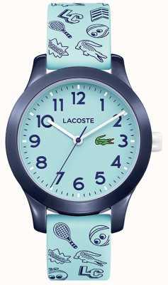 Lacoste 12.12 turquoise riem en wijzerplaat voor kinderen 2030013