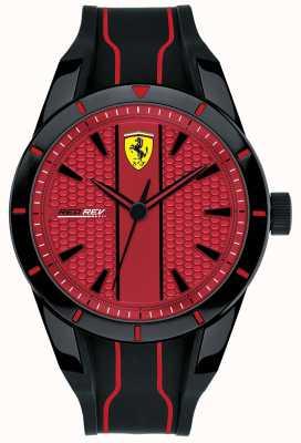 Scuderia Ferrari Redrev rode wijzerplaat zwarte rubberen band heren 0830540
