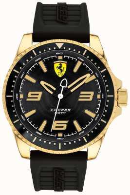 Scuderia Ferrari Mens xx kers vergulde behuizing rubberen band 0830485