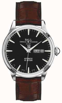 Ball Watch Company Trainmaster eternity zwarte wijzerplaat dag & datum weergave NM2080D-LJ-BK