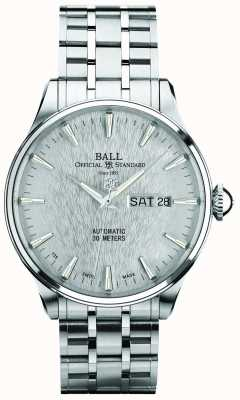 Ball Watch Company Trainmaster eternity silver dial automatische dagaanduiding NM2080D-SJ-SL