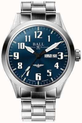 Ball Watch Company Engineer iii zilveren ster blauwe wijzerplaat dag & datum weergave NM2180C-S2J-BE