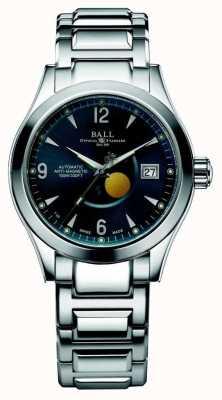 Ball Watch Company Ohio maanfase automatische blauwe wijzer datumweergave NM2082C-SJ-BE