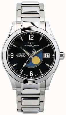 Ball Watch Company Ohio maanfase automatische datumdisplay met zwarte wijzerplaat NM2082C-SJ-BK