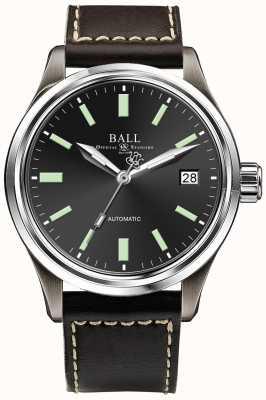 Ball Watch Company Trainmaster titanium automatische datumweergave voor zwarte wijzerplaten NM1038D-L5J-BK