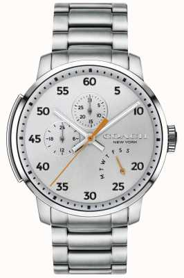 Coach Heren bleecker multifunctioneel horloge zilver 14602358