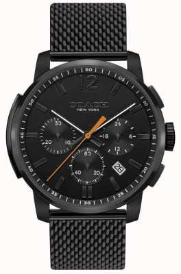 Coach Heren bleecker multifunctioneel chrono horloge | zwarte mesh band 14602344
