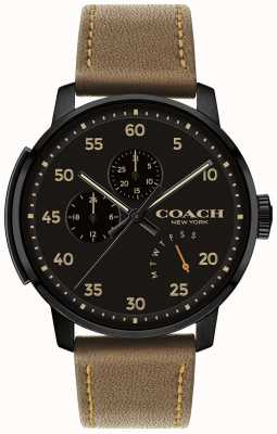 Coach Heren bleecker horloge multifunctionele zwarte wijzerplaat 14602339