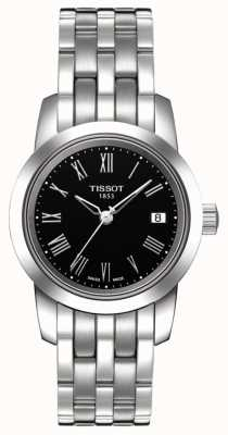 Tissot Klassieke wijzerplaat roestvrij staal zwarte wijzerplaat T0332101105300