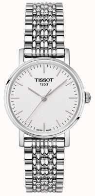 Tissot Womens everytime roestvrij stalen armband zilveren wijzerplaat T1092101103100