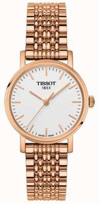 Tissot Womens everytime rose vergulde grijze wijzerplaat T1092103303100