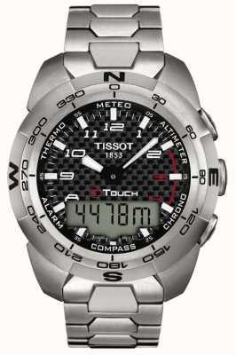 Tissot Mens t-touch expert titanium alarm chronograaf T0134204420200