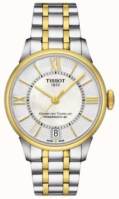 Tissot Dames chemin des tourelles automatische two tone Swiss made T0992072211800