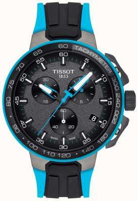 Tissot Heren t-racefiets zwart blauw rubberen band T1114173744105