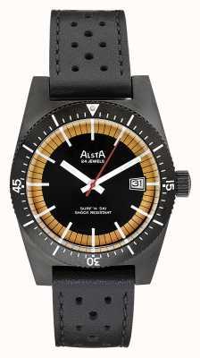 Alsta Surf n ski limited edition zwart pvd plated zwart leer SURF N SKI