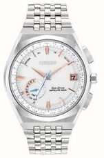 Citizen Eco-drive RVS zilveren wijzerplaat herenhorloge CC3020-57A