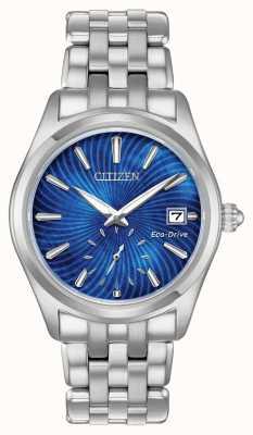 Citizen Womens eco-drive blauwe wijzerplaat roestvrij staal wr100 EV1030-57N