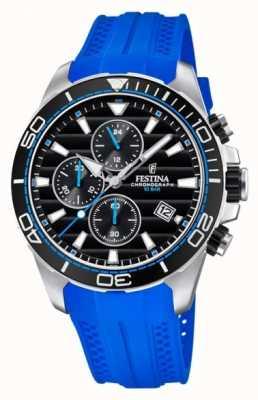 Festina Ronde halsband 2018 chronograaf blauw van Groot-Brittannië F20370/5