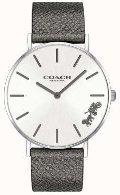 Coach Horloge van de leer lederen grijze leer 14503155