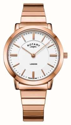 Rotary Dames horloge in edelstaal uitlopend in edelstaal LB00767/02
