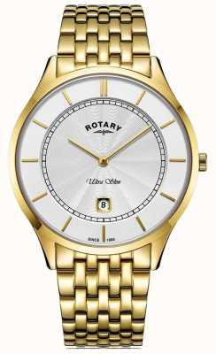 Rotary Heren ultra slanke vergulde armband GB08413/02