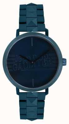 Jean Paul Gaultier Dames slecht meisje blauwe toon armband horloge 8505702