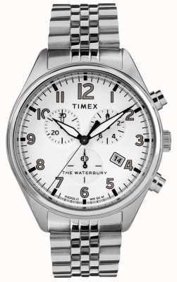 Timex Heren armband in waterbury, traditioneel wit chronograaf TW2R88500