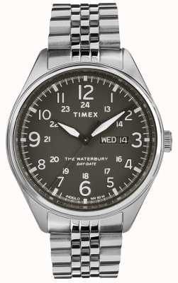 Timex Mens waterbury traditionele dag datum zwart staal TW2R89300